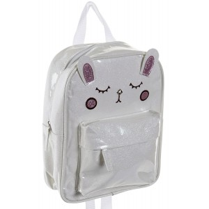 Backpack Cat Woman, Backpack, Back, color White, Design Kawaii and Modern 21,5x10x28cm - Home and More