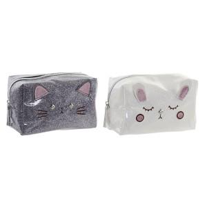Neceser de Viaje para Mujer con Forma de Gatos, Diseño Kawaii,  estilo Original/Moderno 17x8,5x11cm - Hogar y mas