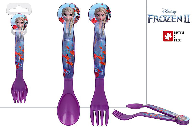 Covered Child Hard Plastic, Reusable, for Children Frozen II. Cutlery Disney 17,5x3x3 cm