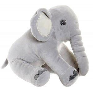 Elefante de Peluche para Niños. Peluche de Elefante Sentado. Diseño de Animal, con estilo Infantil 18x20x25 - Hogar y Más