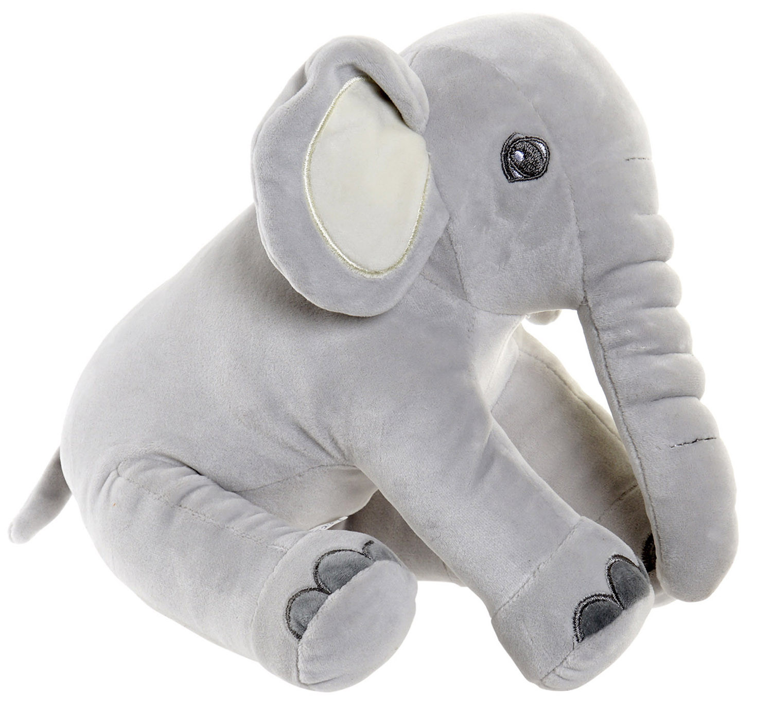 Elephant Plush for Children. Stuffed Elephant Sitting. Design of Animal, with Child style 18x20x25 - Home and More