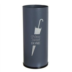 "Umbrella stand Metal Grey ""home sweet home"". Paragueros Original and Modern"