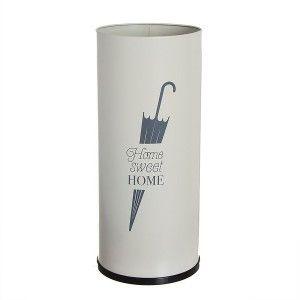 """Paragüero de Metal Blanco """"home sweet home"""". Paragueros Originales y Modernos"""