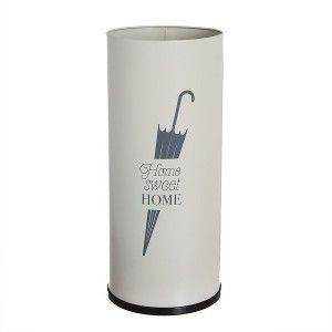 "Umbrella stand White Metal ""home sweet home"". Paragueros Original and Modern"