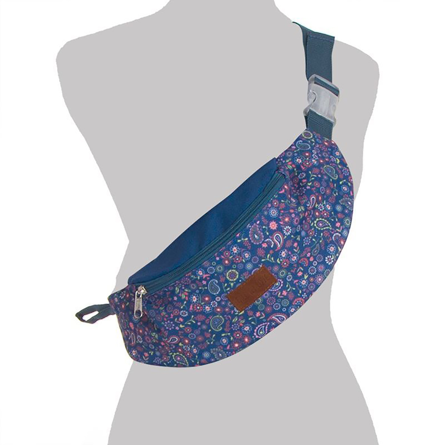 Fanny pack Woman Flower with Zipper, Large Capacity. Fanny packs-Original and Modern, 32,5x11,5 cm
