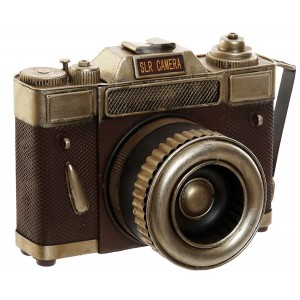 Camara Vintage Metal Figure Decorative Metal Camera Old 22X12X15 cm