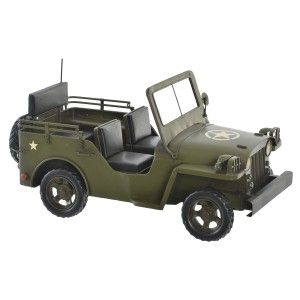 Car/Military Vehicle, Vintage, Figure Decorativade Jeep Metal. Old design/Realistic 29X14X15 cm - Home and More