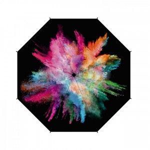 Paraguas Largo Mujer Ligero, Paraguas Originales Holy Explosión. Extraresistente al agua, Varilla Fibra 61/8 ø102 cm