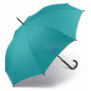 Paraguas Azul Largo/Ligero, Paraguas Originales Automáticos Anti viento. Extra resistente al agua, Varilla Fibra 60/8-ø105 cm