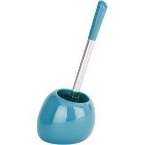 Escobillero Baño Turquesa de Cerámica, Diseño Moderno y Original. Escobilleros WC para Baño 15X40 cm