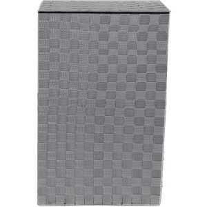Basket Dirty Clothes with Cover, Basket Gray Linen for Clothing Storage 52,5x33,5 cm