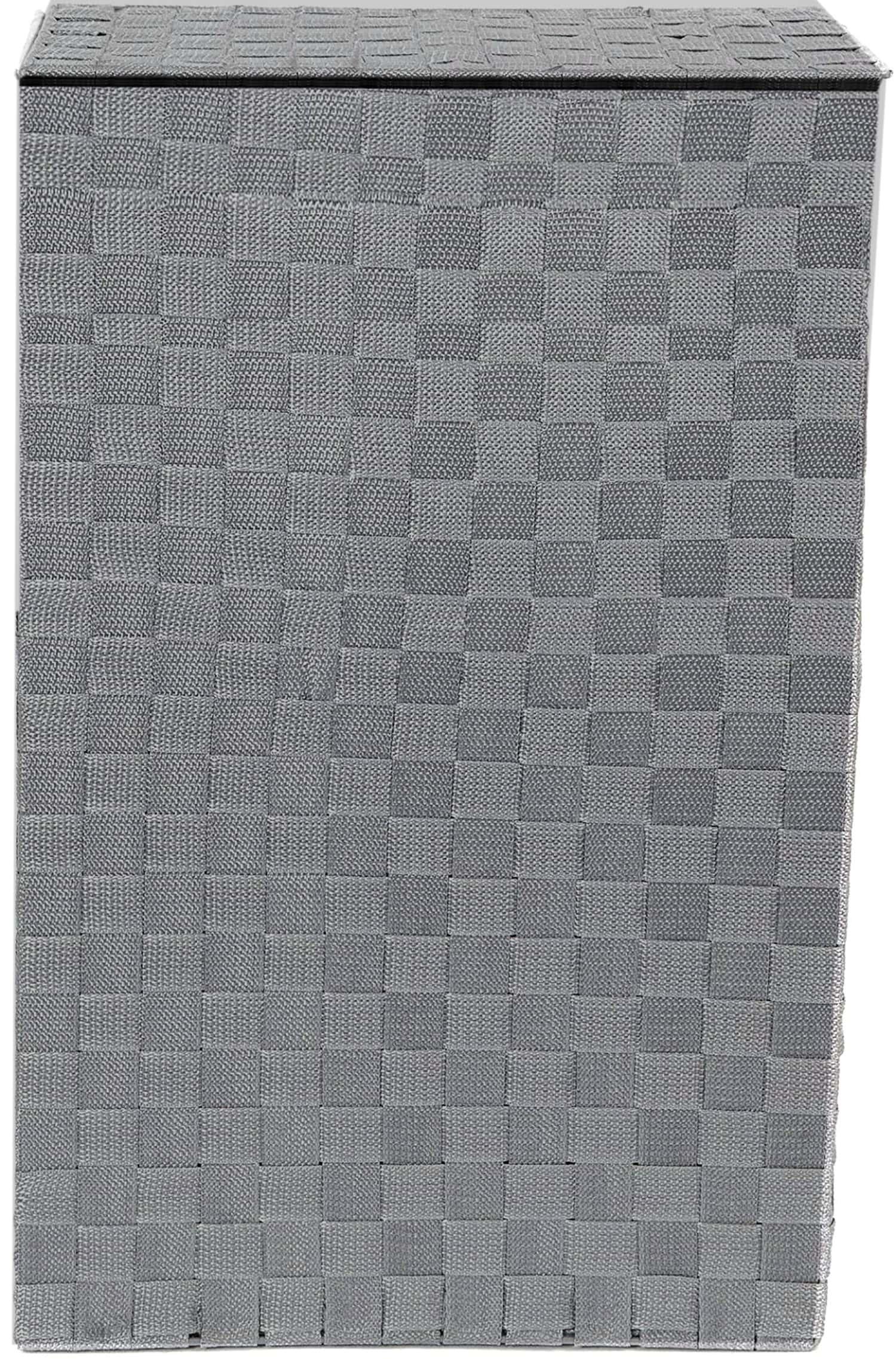 Cesto Ropa Sucia con Tapa, Cesta Gris de Lino para Ropa Almacenaje 52,5x33,5 cm