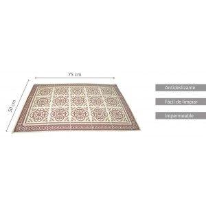 Salvamantel Individual, made in Vinyl. Tile design, Mosaic style. Placemat non-Slip 50x75cm.