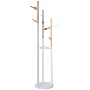 Wood coat rack, Child coat racks Original for Children, 6 Hangers. Practical, Functional and Stable 135x30 cm