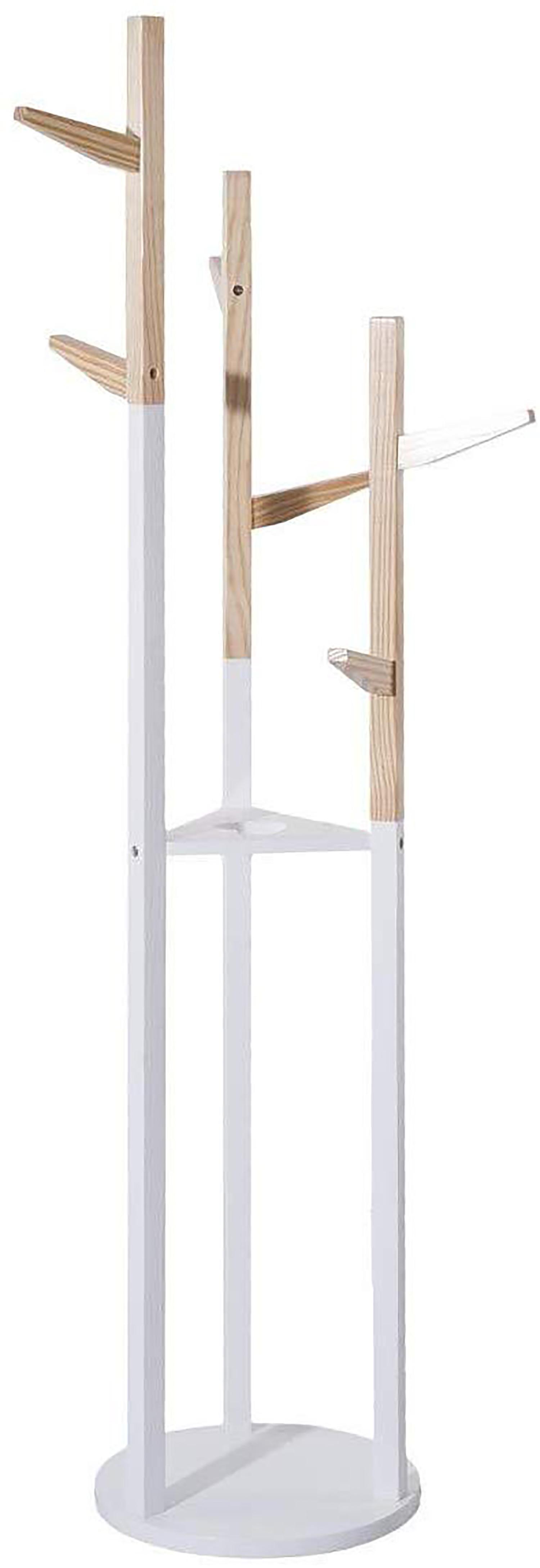 Wood coat rack, Child coat racks Original for Children, 6 Hangers. Practical, Functional and Stable 135x30 cm