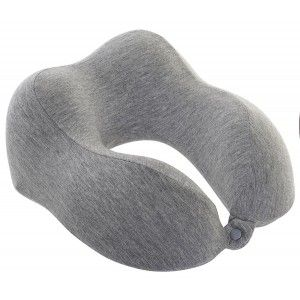 Travel pillow Neck Cervical Cushion Travel Memory Foam, with a down payment for their not opening, 27x27x14cm - Home and More