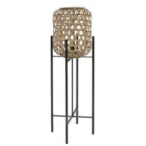 Table lamp Metal Rattan, Modern design and Original, Lamp for living Room Elegant, 27x27x97cm - Home and More