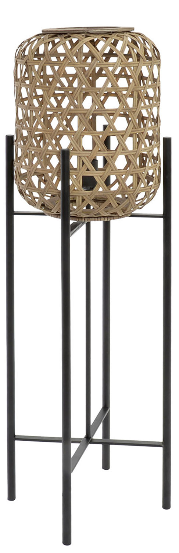 Table lamp Metal Rattan, Modern design and Original, Lamp for living Room Elegant, 27x27x97cm - Home and More