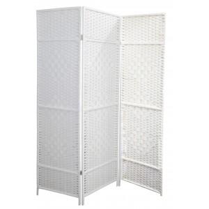 Folding screen White Natural Bamboo 180 cm, Folding screen room Divider/ Dressing room. 3 Panels 180x135 cm