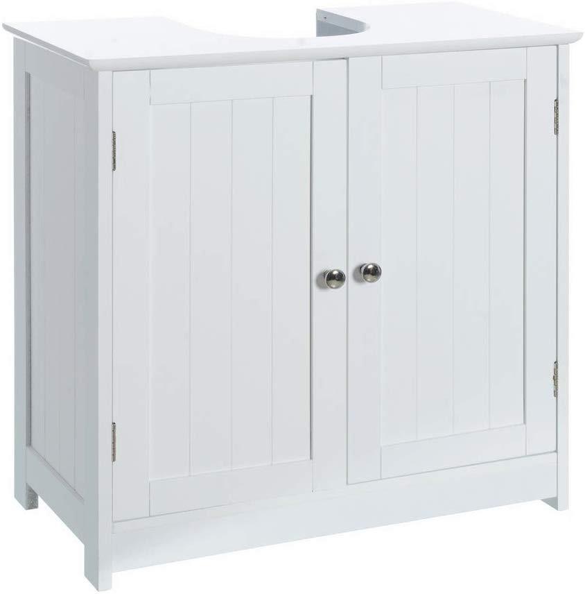 Wardrobe Cabinet Sink Wood, Cabinet Under the White Bathroom 60x30x60 cm