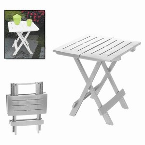 "Folding table ""ADIGE"" White, side Table Folding White Table Garden or Camping, 43x45x50cm - Home and More"