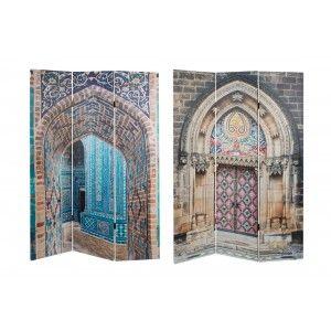 Biombo Separador de Ambientes, Biombo Foto impresión en Lienzo para Dormitorio/Salón con 3 Puertas. 180x120 cm