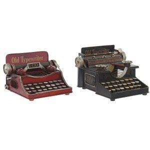 Typewriter Metal, Old, Decorative Figures Vintage. Decoration Machine Type Figure 17X17X13 cm