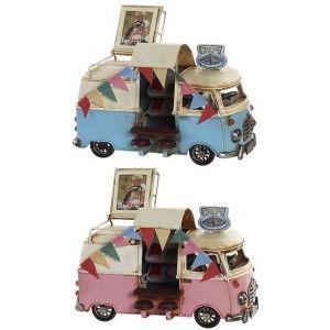 Vehículo Creps Vintage, Figura Vehiculo Decorativo de Metal. Diseño Antiguo/Realista 20X11X13 cm - Hogar y Más
