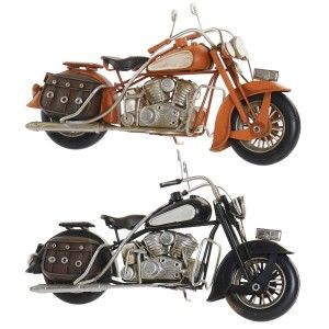Motorcycle Decor Vintage, Decorative Figure made of Metal. Old design/Realistic 28X9,5X13,5cm - Home and More