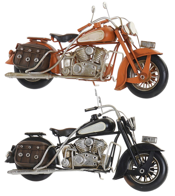 Moto Decoración Vintage, Figura Decorativa de Metal. Diseño Antiguo/Realista 28X9,5X13,5cm - Hogar y Más