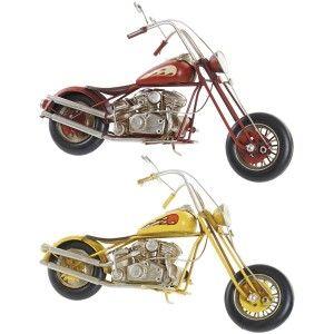 Moto Decoración Vintage, Figura Decorativa de Metal. Diseño Antiguo/Realista 29X9X17cm - Hogar y Más