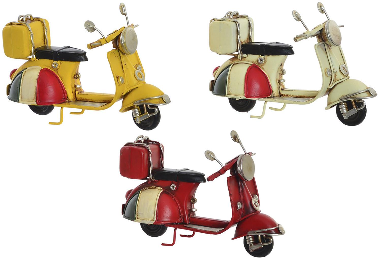 Moto Viaje Decoración Vintage, Figura Decorativa de Metal. Diseño Antiguo/Realista 11,5x5,5X7,5cm - Hogar y Más