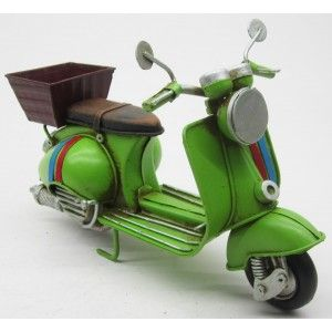 Bike with Basket Decoration Vintage, Decorative Figure made of Metal. Old design/Realistic 17x7X11,5cm - Home and More