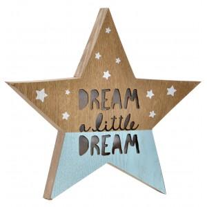 Estrella Decoración de Madera Luminosa, Lámpara de Mesa con Luz. Estrellas Decorativas 29X3,5X28 cm
