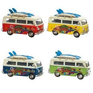 Vehicle Hippie Vintage Figure Vehicle Decorative Metal. Design Hippie Flower Power 25X12X15 cm - Home and More
