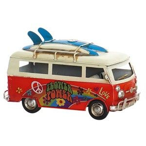 Vehicle Hippie Vintage Figure Vehicle Decorative Metal. Design Hippie Flower Power 25X12X15 cm - Home and More
