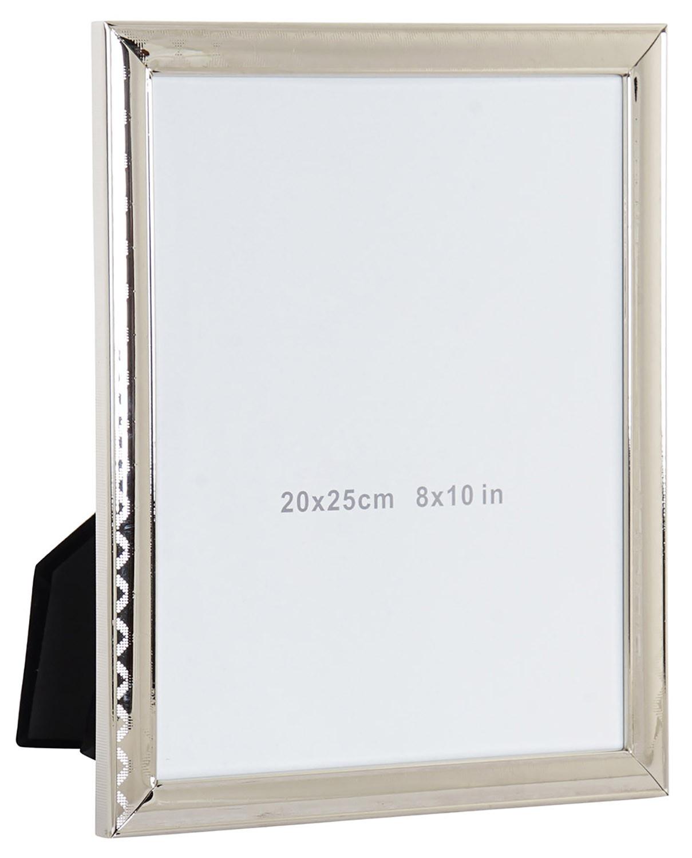 Marco de Fotos de Metal y Cristal 20x25 cm, Porta fotos Metálico. Marcos de Fotos Originales 22,2x2x27,5 cm