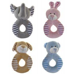 Peluche Bebe Recién Nacido, realizado en Poliester, con diseño de Animales y estilo Infantil, para Bebés 10x5x15cm- Hogar y Más