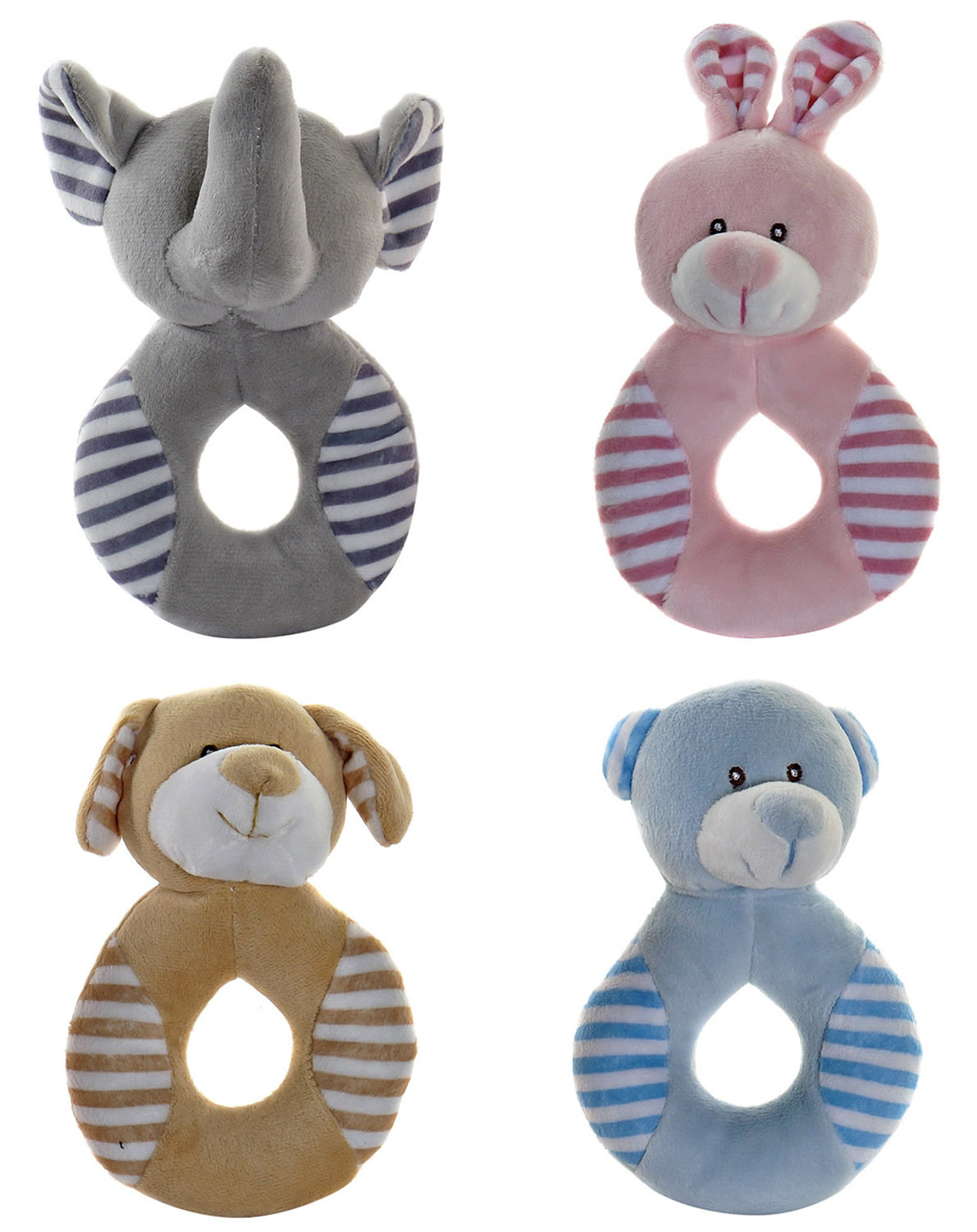 Stuffed animal Newborn Baby, made in Polyester, with design of Animals and Child style, Baby 10x5x15cm - Home and More