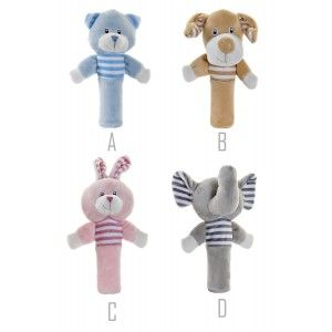Stuffed animal Newborn Baby, Teddy Long, Ideal for Children and Babies, Animal Design, Plush Infant 5x5x15cm - Home and More