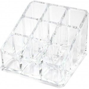 Makeup organizer Transparent, Support for Cosmetics Methacrylate 8,5x6x8,5 cm