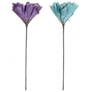 Flor Artificial para Decoración, Ramas Decorativas Altas. Flores Artificiales Decoración Jarrones 35x74 cm