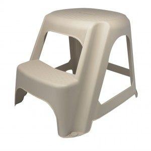 Stool 2 steps, Ladder, Plastic Resists. Stools Cheap Kitchen 50x45x40 cm