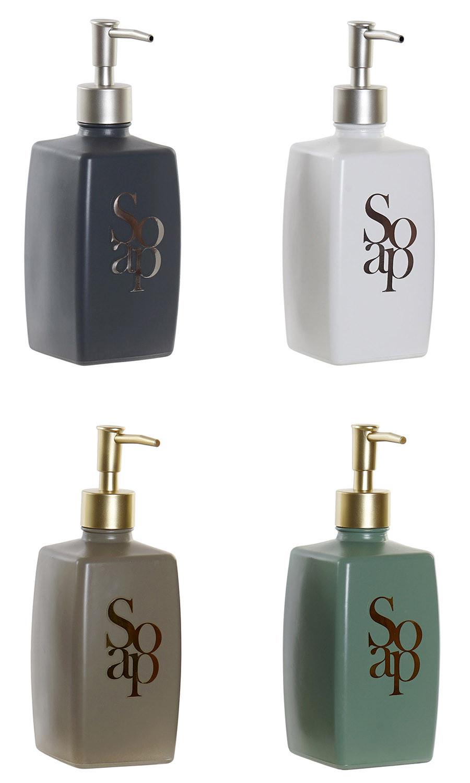 Dosificador Jabón Baño, Dosificador Mate en Cristal para Baño o Cocina, Dosificador de Jabón Manos/Ducha 7,7x7,7x21cm