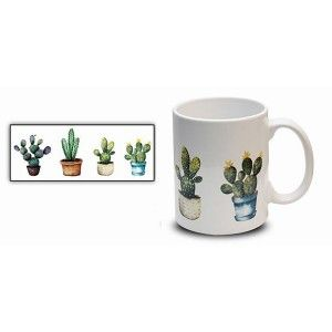 Cup of Coffee, Cactus 300 ml Mug Breakfast. Cups Original Gift 8x9,7 cm