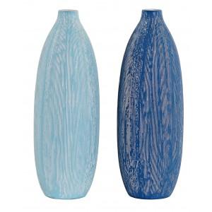 Blue vase Striped Dolomite for Decoration, Vases, Modern Decorative 11X11X36 cm