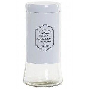 Bote Cristal con Tapa para Almacenaje de Alimentos  1,4 L, Tarros de Cocina Cristal. Frasco Conservas, Especias  11X11X23,5 cm