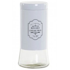 Canister Glass with Lid for Food Storage 1.4 L, Jars, Kitchen Glass. Jar, Preserves, Spices 11X11X23,5 cm