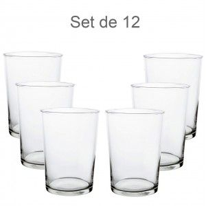 Glass of cider 50cl, Cut Hot, 12 pcs. Elegant crockery and Modern set of 12 - Home and More