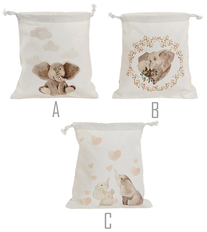 Bolsas Canvas de Cuerdas Algodón con Diseño de Elefante, Bolsas de Cuerdas para Mujer 24X2X26cm - Hogar y Más